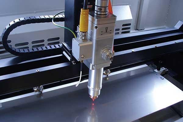 xy laserplotter fiber cutter head