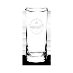 Drink glas met lasergravure.